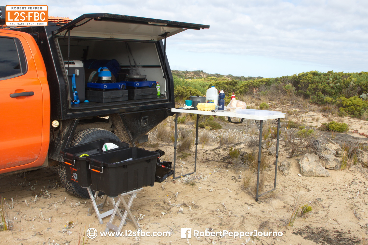 Camping with a ute service body
